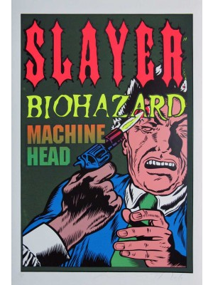 Placa de Rock and Roll  Cod. 150165 Slayer (3)