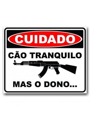 Placa de Transito  Cod. 210003 Cuidado Dono Bravo