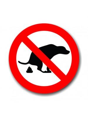 Placa de Transito  Cod. 210015 diam Proibido Coc? Cachorro