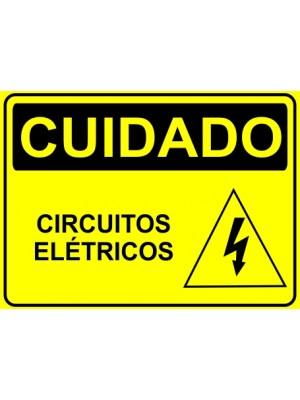 Placa de  Sinalizacao Cuidado Circuitos eletricos