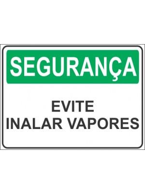 Placa de  Sinalizacao Seguranca Evite inalar vapores