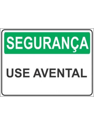 Placa de  Sinalizacao Seguranca Use avental