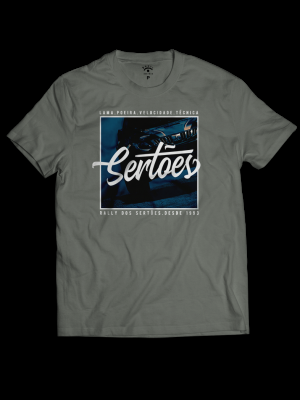 Camiseta Cinza -Lama Poeira Velocidade Técnica