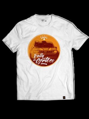 Camiseta branca - Carro Circulo laranja