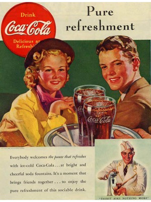 Placa Decorativa Vintage da Coca Cola  240086
