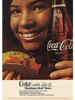 Placa Decorativa Vintage da Coca Cola  241542