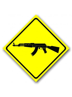 Placa de Transito  Cod. 210076 56x56diagonal Arma AK47