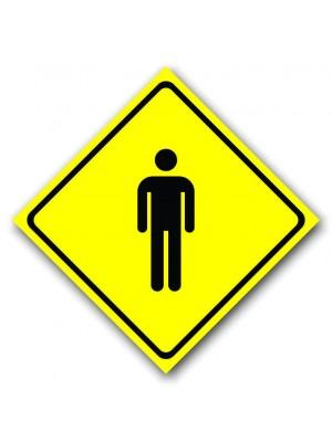 Placa de Transito  Cod. 210092 56x56diagonal Banheiro Masculino