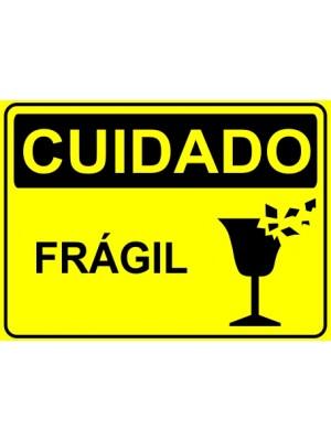 Placa de  Sinalizacao Cuidado Fragil
