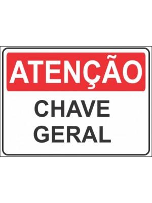 Placa de  Sinalizacao Atencao Chave geral