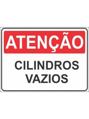 Placa de  Sinalizacao Atencao Cilindros vazios