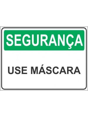 Placa de  Sinalizacao Seguranca Use Mascara