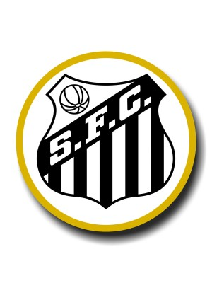 Placa de Futebol  Cod. 220032 diam Santos