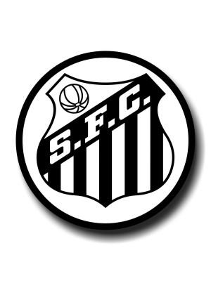 Placa de Futebol  Cod. 220033 diam Santos