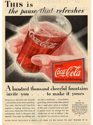 Placa Decorativa Vintage da Coca Cola  240122