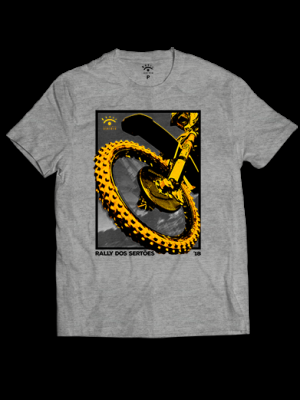 Camiseta cinza - Roda Moto